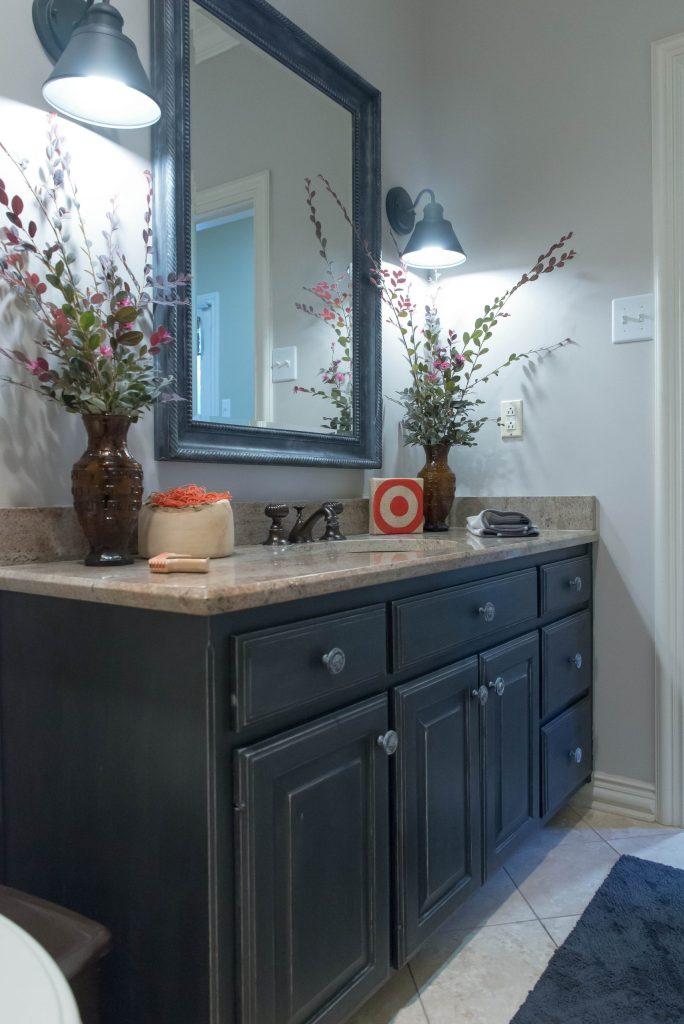 Chalk Paint bathroom cabinets