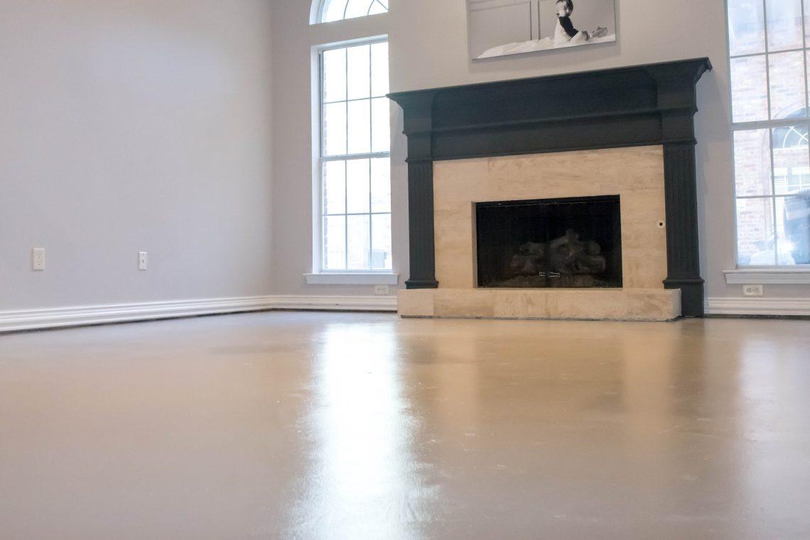 How to paint concrete floors