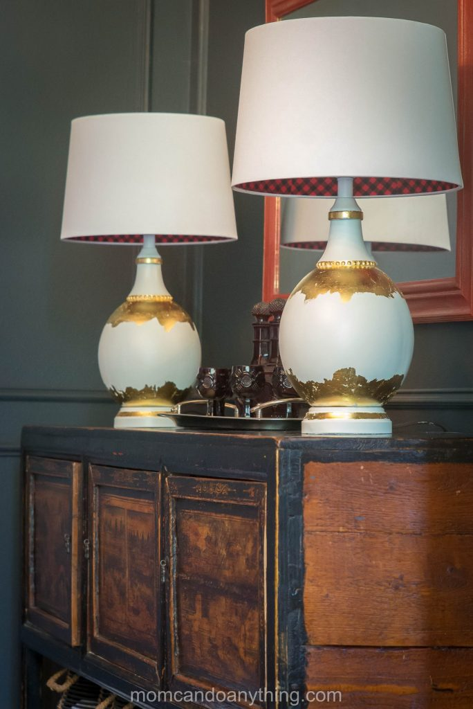 gold leaf lamps
