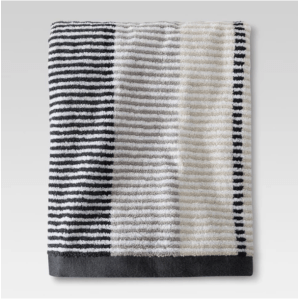 Target gray stiped bathroom towels