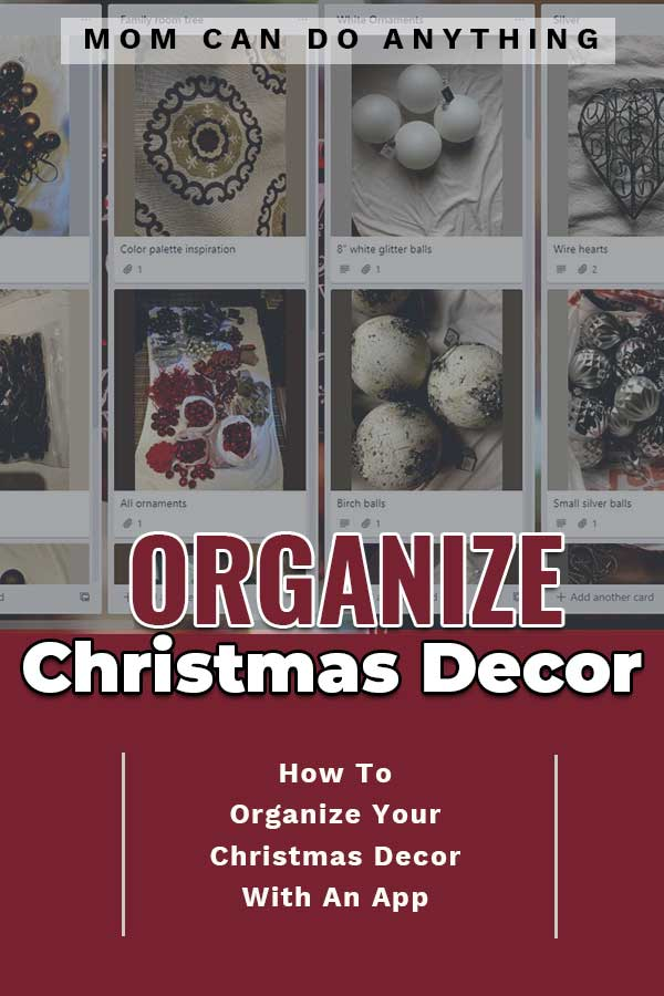 Organize Christmas Decor with an App