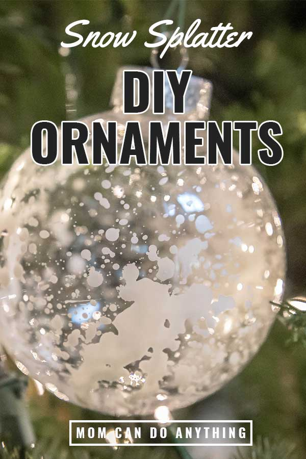DIY Snow Splatter Ornament Pinterest pin