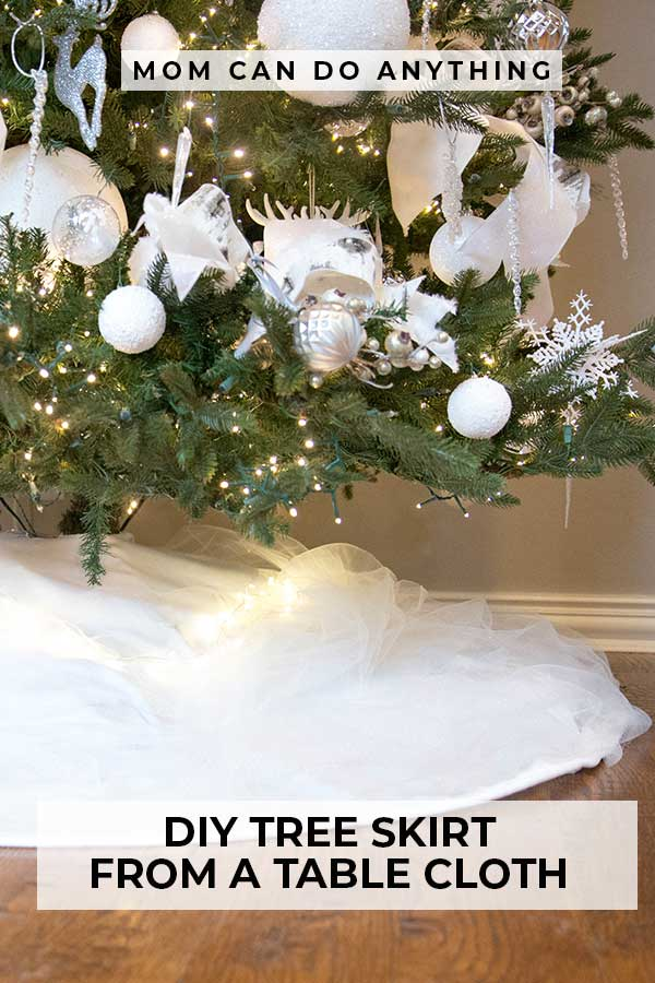 DIY Tree Skirt From a Table Cloth Pinterest Pin