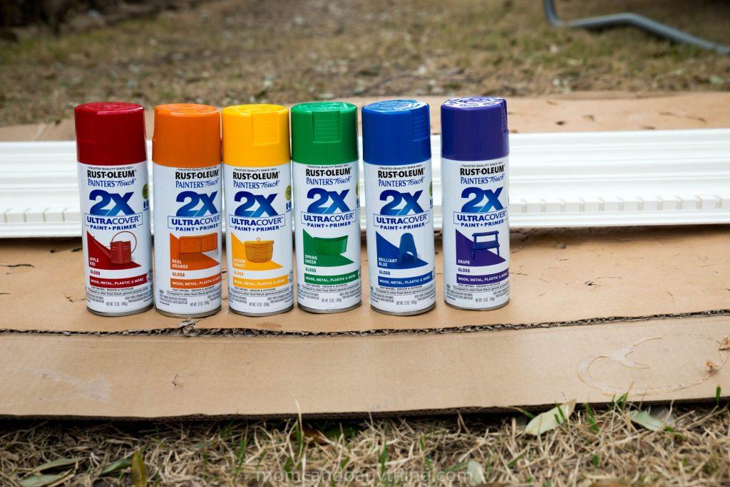 Rainbow spray paint