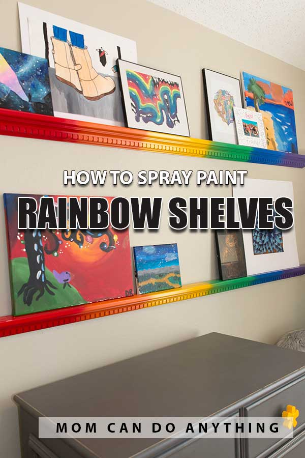 Rainbow Shelves Pin