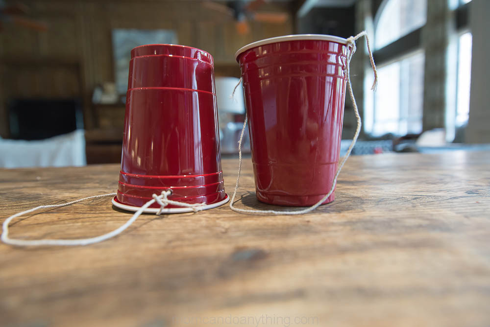 cup with string