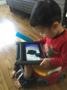 Quality Streaming a MUST for Potty Time! / Photo by: Suzanne Chan