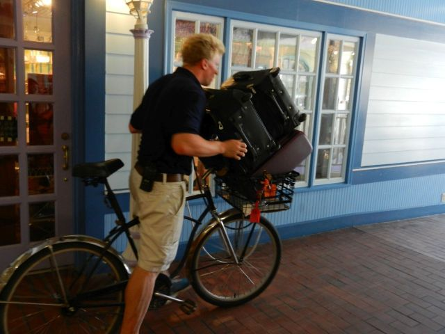 This is how your luggage gets transported to and from the smaller Hotels. Pack light!