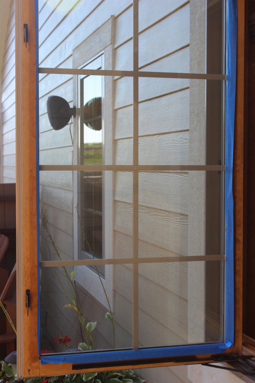 Unfrosted window.