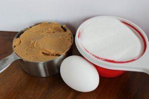 Three ingredient peanut butter cookies.