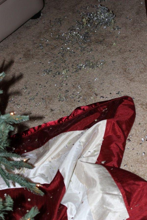 Vacuuming my Christmas tree