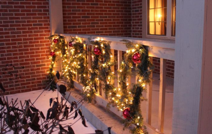 Outdoor Christmas decorations.