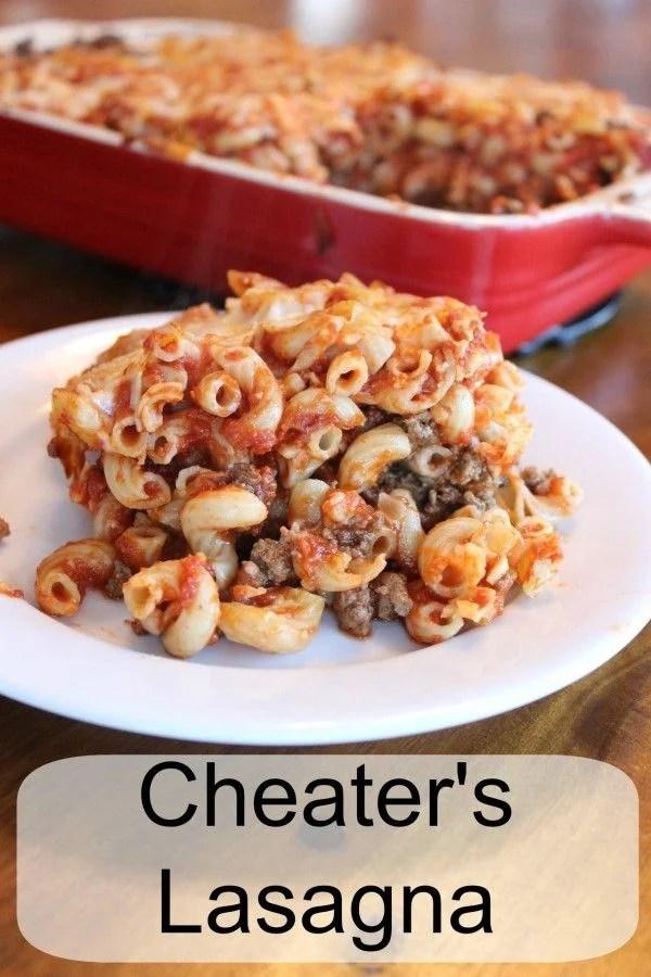 Cheater's lasagna