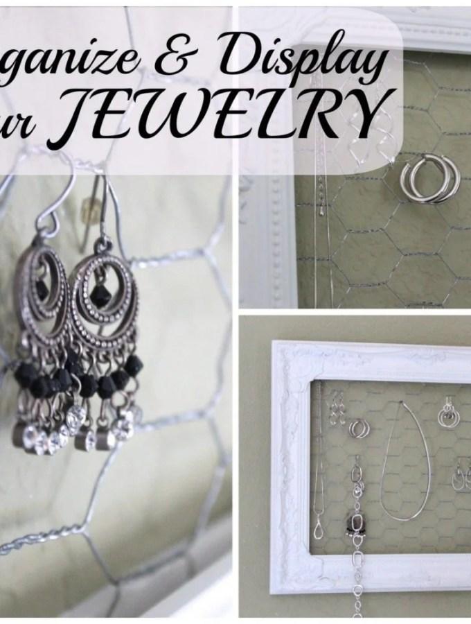 Jewelry – Displayed, organized, pretty!