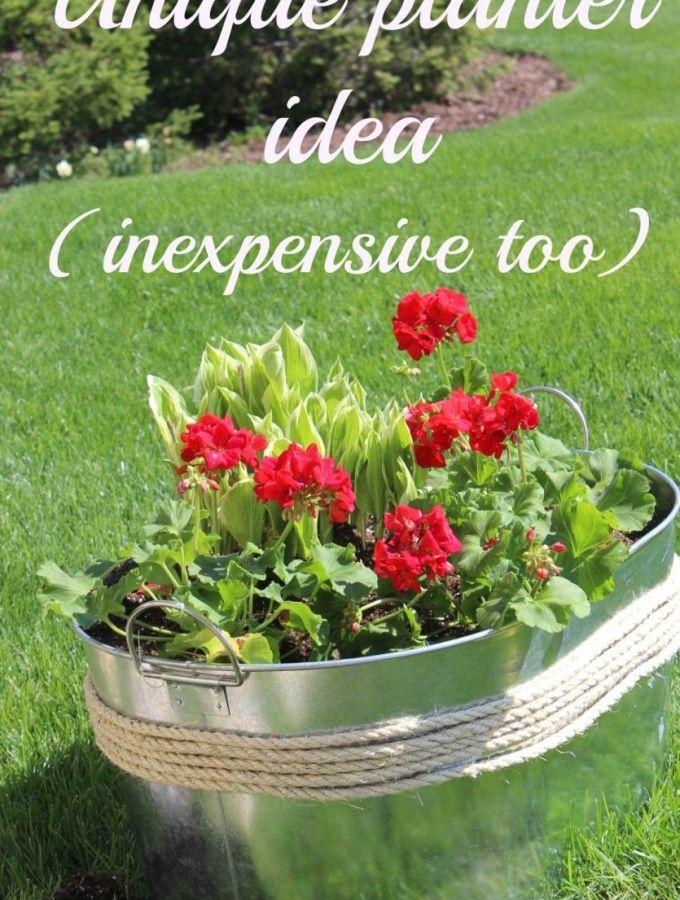 Unique planter idea (inexpensive too!).