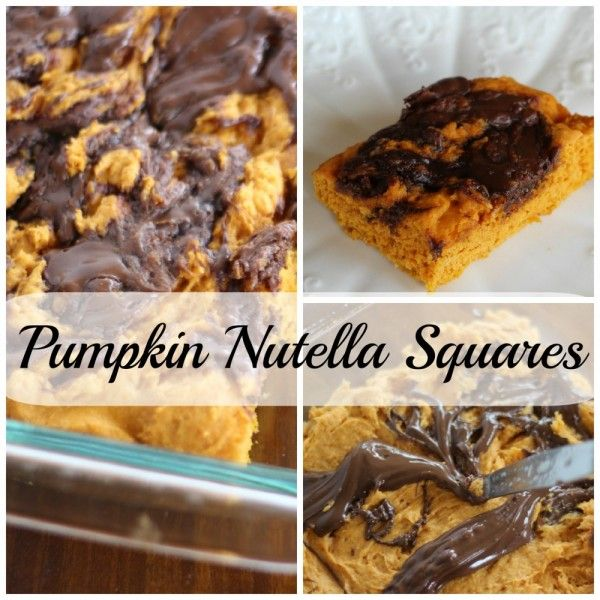 Pumpkin Nutella Squares. One of my top 10 recipes from 2015