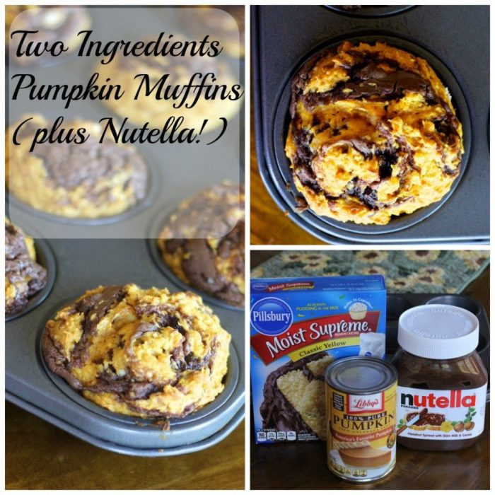 pumpkin muffins with Nutella