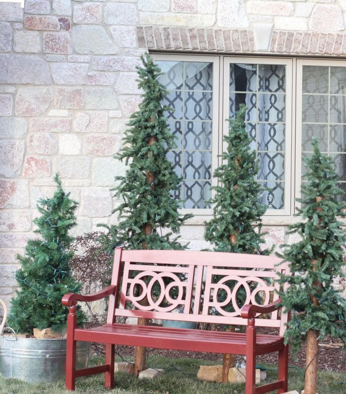 Christmas bench