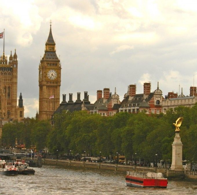 London, England.  And, where we are going for tea!