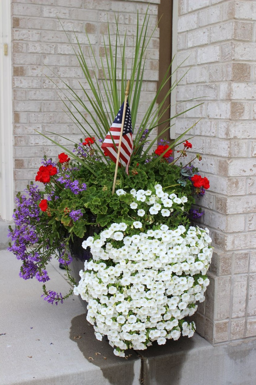 4th of July flower planter