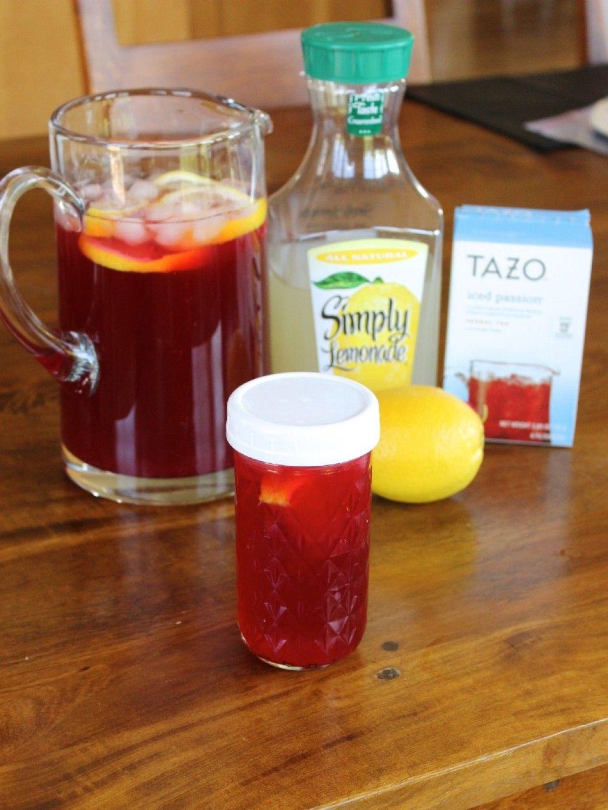 Taza Iced Passion tea and lemonade.