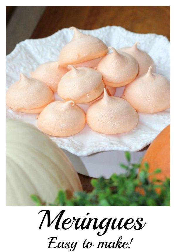 Easy Scratch Recipe for Fall Hard Meringues