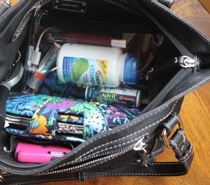 Organizing my purse essentials!