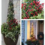 Easy DIY Christmas planter