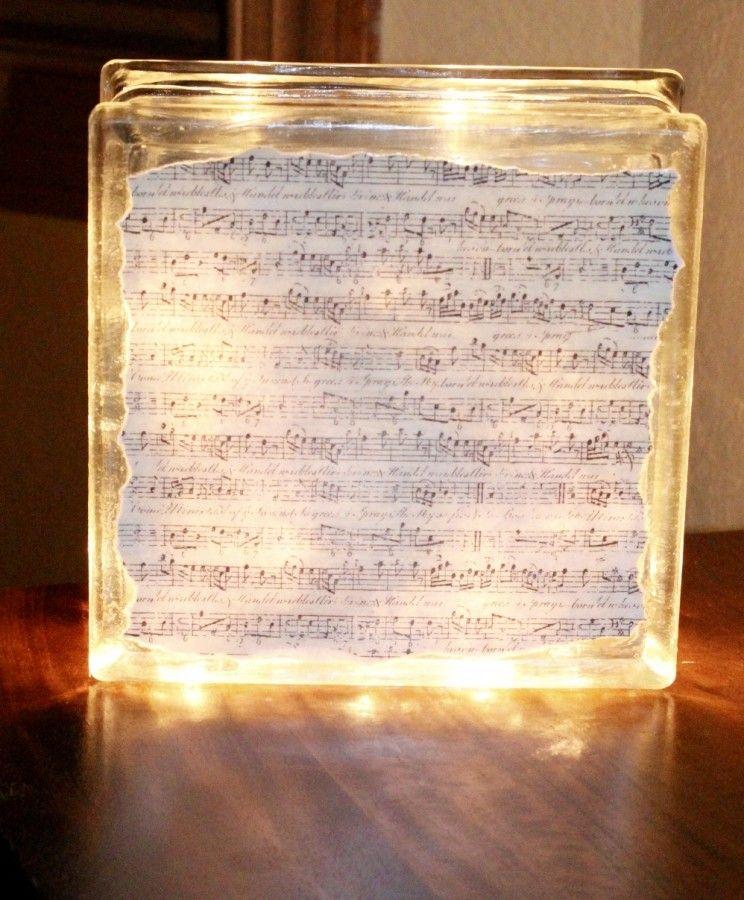 Illuminated glass block