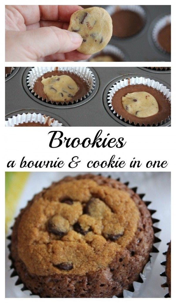 Brookie - A brownie and cookie in one.