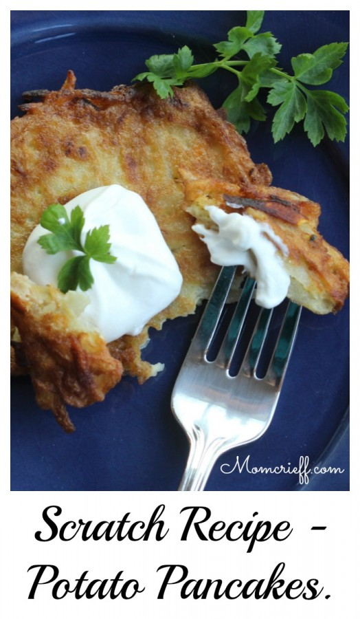 Potato Pancakes.  A different spin on potato.