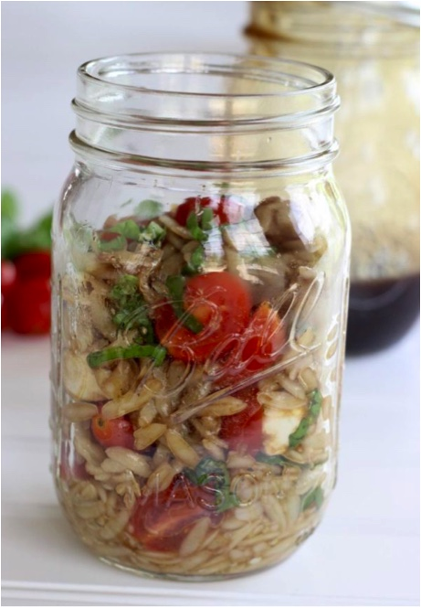 Summer Caprese Orzo Salad