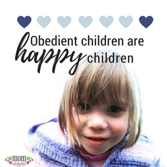 obedient children are happy children