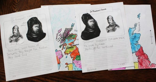 younger children notebooking page history unit study G. A. Henty