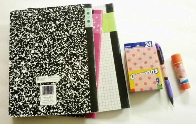color coding school supplies