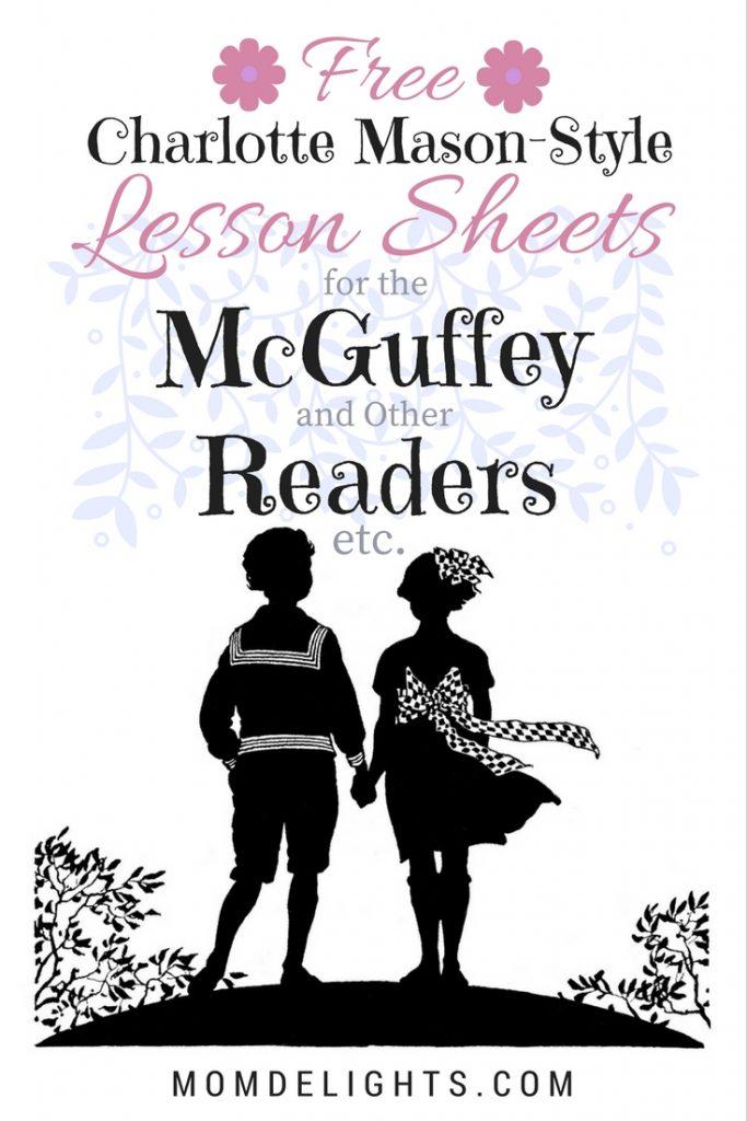 Charlotte Mason-Style McGuffey Lesson Sheets Free Printables Pin