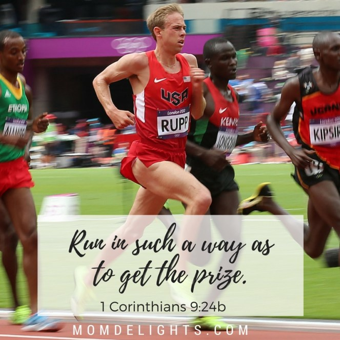 Run in such a way as to get the prize.
