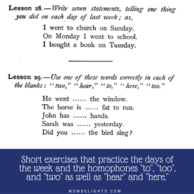 long's language days of the week and homophones