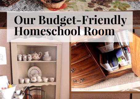 homeschool room, decorating on a budget, homeschool room on a budget, homeschool room for real learning, real-life homeschooling