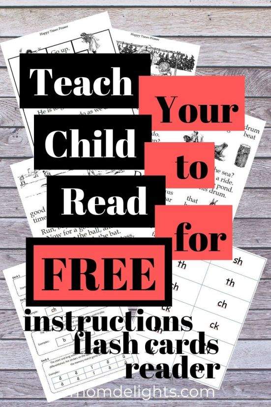 Teach Your Child to Read for Free graphic