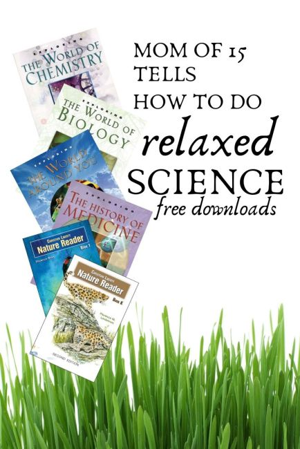 mom of 15 tells how to do relaxed science