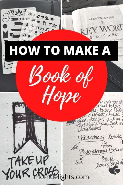 a collection of photos for creating a book of hope