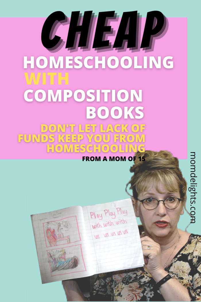 Cheap homeschooling with composition books