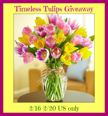 timeless tulipsbutton
