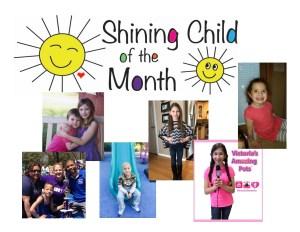 shining child collage