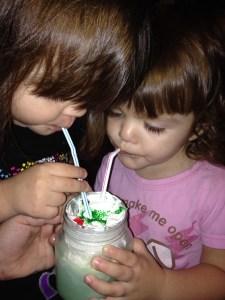 grinch milkshake girls