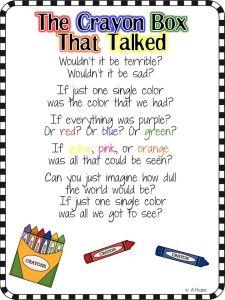 crayon colors poem