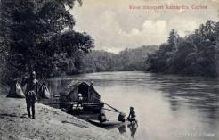 River Transport at Ratnapura