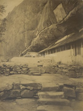 Outside of Rock Cave Temple Dambulla photographed by Skeen & Co. [Image Courtesy: Threeblindmen Photography Archive - Ceylon Memory Project]