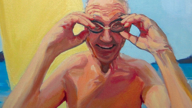 Feisty Old Jew Painting